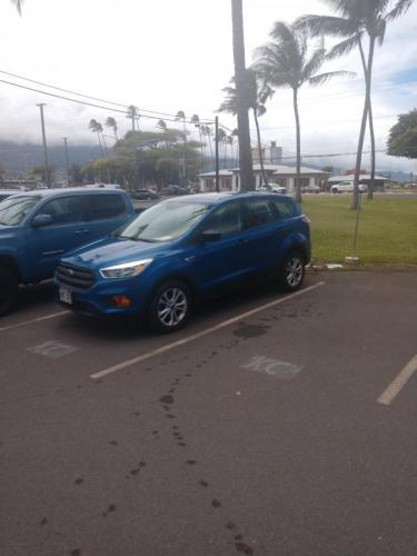 2017 BLUE Ford Escape S (1FMCU0F73HU) with an 4 Cylinder Engine engine, Automatic transmission, located at 368 Huku Lii Pl, Kihei, HI, 96753, (808) 875-8782, 20.773748, -156.452103 - Photo #0