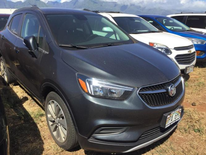 2018 GRAY Buick Encore Preferred (KL4CJASB3JB) with an 4 Cylinder Engine engine, Automatic transmission, located at 368 Huku Lii Pl, Kihei, HI, 96753, (808) 875-8782, 20.773748, -156.452103 - Photo #0