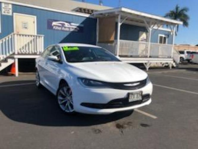 2015 WHITE Chrysler 200 S (1C3CCCBG0FN) with an V6 Cylinder Engine engine, Automatic transmission, located at 368 Huku Lii Pl, Kihei, HI, 96753, (808) 875-8782, 20.773748, -156.452103 - Photo #0