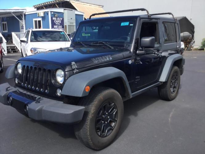 2014 GREY Jeep Wrangler Willys Wheeler (1C4AJWAG2EL) with an V6 Cylinder Engine engine, Automatic transmission, located at 368 Huku Lii Pl, Kihei, HI, 96753, (808) 875-8782, 20.773748, -156.452103 - Photo #0